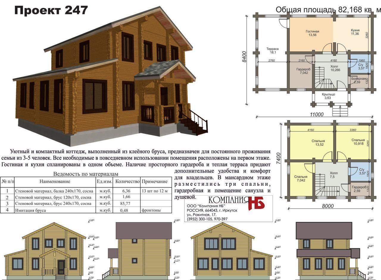 Фото проекты домов из бруса по чертежам